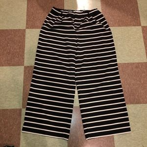 Coldwater creek striped flare pants 10